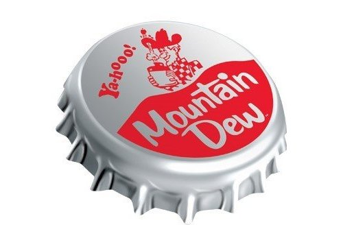 Ande Rooney Mountain Dew® Cap Die-Cut Tin Sign