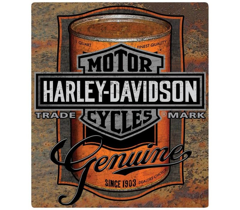Harley Davidson® Oil Can Label Tin Sign