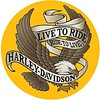 Ande Rooney Harley Davidson® Live to Ride Round Tin Sign