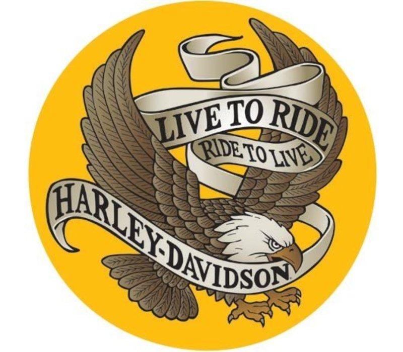 Harley Davidson® Live to Ride Round Tin Sign