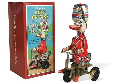 Schylling Propeller on Duck Spins Riding a Bike Wind-up