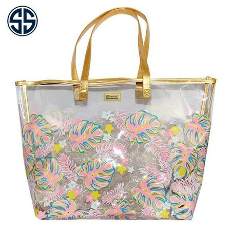 Simply Southern Hibicus Clear Purse