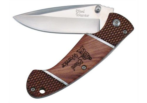 Frost Cutlery Tactical Warrior V Linerlock Knife with Rosewood Handles