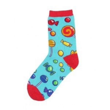 Candy Shop Bright Blue Youth Socks