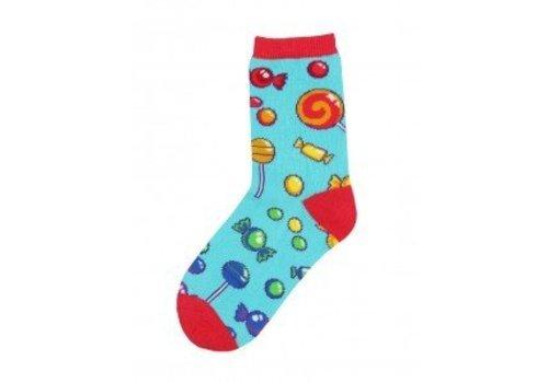 SockSmith Candy Shop Bright Blue Youth Socks