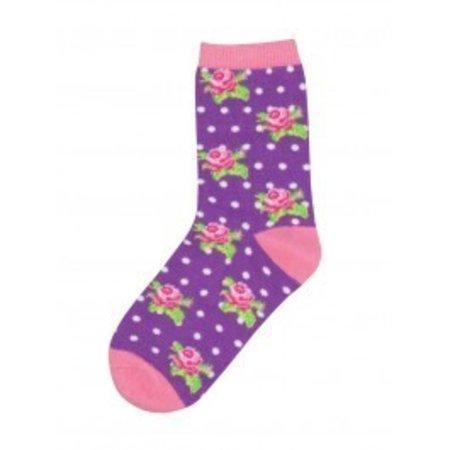 Rosebuddies Lavendar Youth Socks