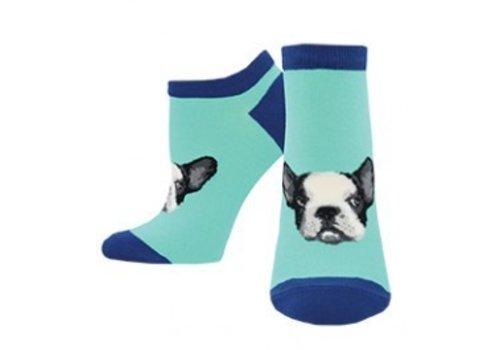 SockSmith Frenchie Connection Ankle Sock Aquamarine