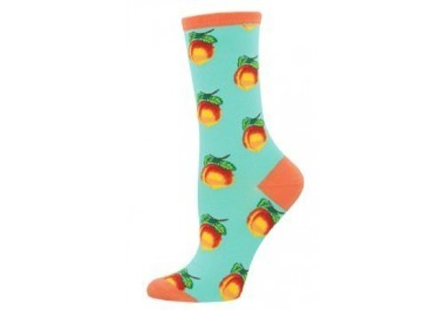 SockSmith Georgia Peach Crew Sock Aquamarine