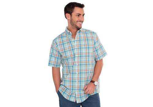 Southern Shirt Wahoo Plaid Button Down Short Sleeve