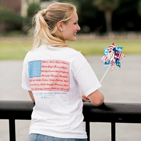 American Flag Topside Cotton