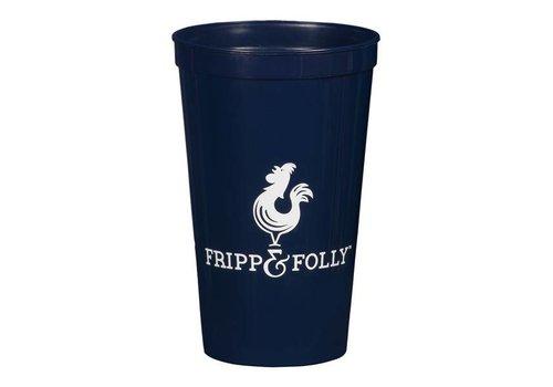 Fripp & Folly Fripp & Folly Logo Blue Party Cup