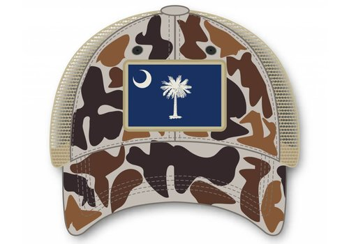 Southern Hooker Southern Hooker Camo SC Flag Hat (unstructured)
