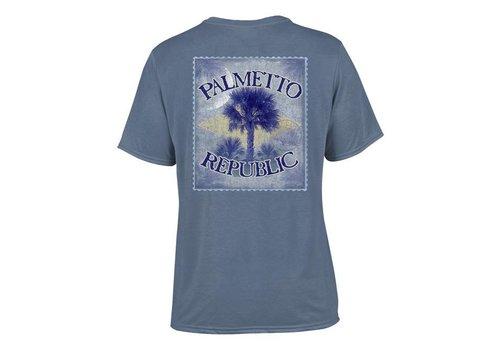 Live Oak Brand Live Oak Brand   Palmetto Vintage Stamp Blue Jean Tee