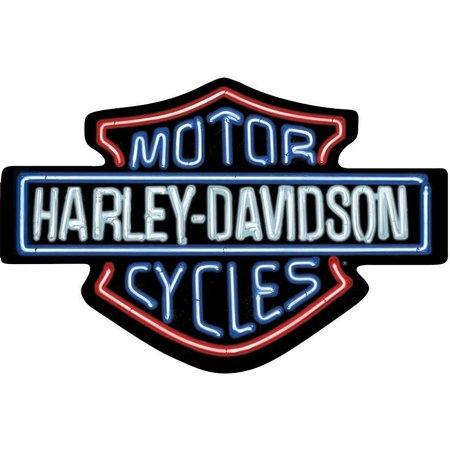 Harley Davidson® Neon Looking Tin Sign