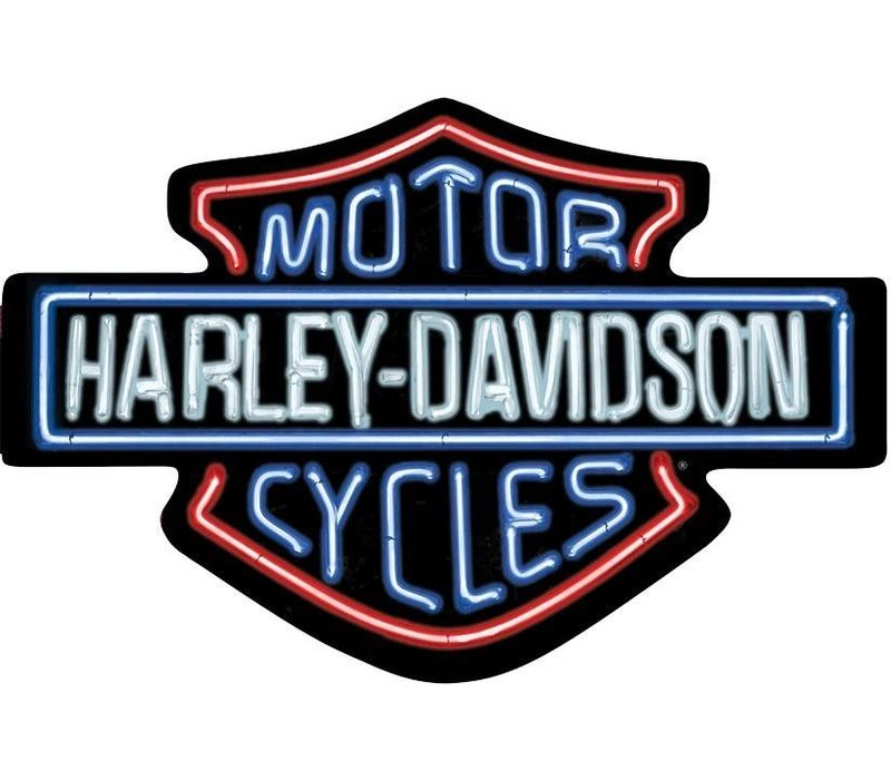 Harley Davidson® Neon Looking Tin Sign