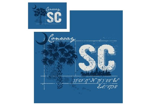 Papa's General Store Conway Splatter Palmetto T-Shirt