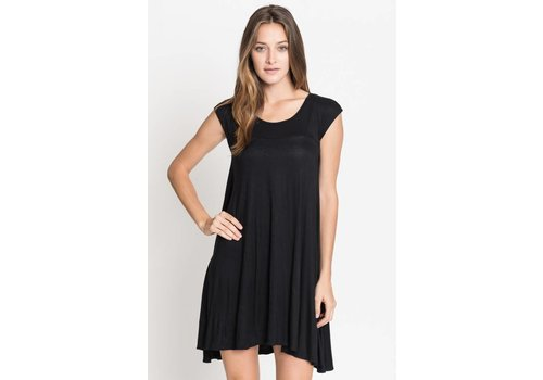 Corner Clothing JERSEY CAP SLEEVE TUNIC DRESS