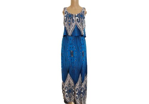 Sleeveless Relaxed Fit A-Line Maxi Dress
