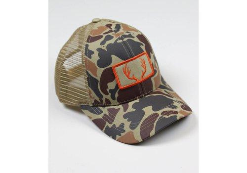 Southern Hooker Southern Hooker Camo Deer Antlers Trucker Hat