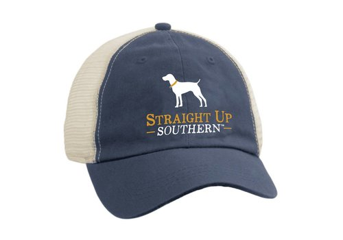 Straight Up Southern SUS Navy Trucker Hat