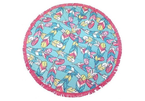 "Simply Southern Simply Southern Feather 62"" Round Beach Towel"
