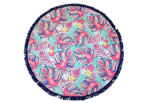"Simply Southern Simply Southern Leaves 62"" Round Beach Towel"