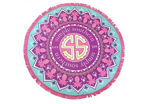 "Simply Southern Simply Southern Mandala 62"" Round Beach Towel"
