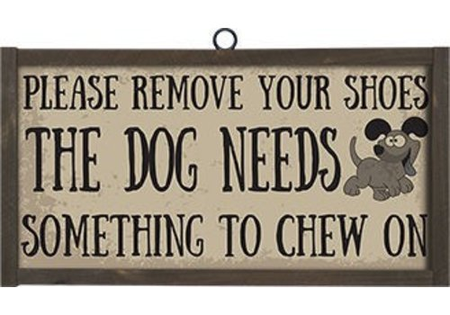 Remove Your Shoes the Dog Needs to Chew