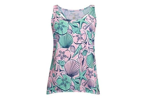 Simply Southern Simply Southern Shells Racer Tank Top