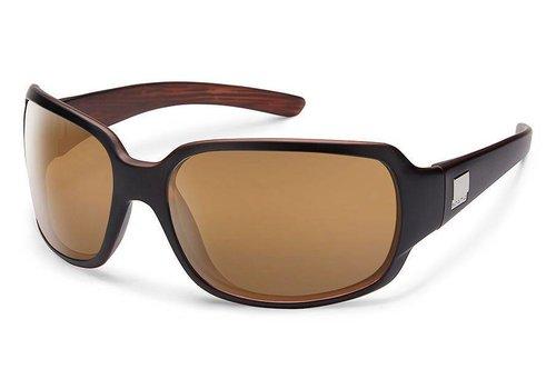 Suncloud Suncloud Cookie Sunglasses: Mt Black Backpaint/Polarized Sienna Mirror Polycarbonate Lens