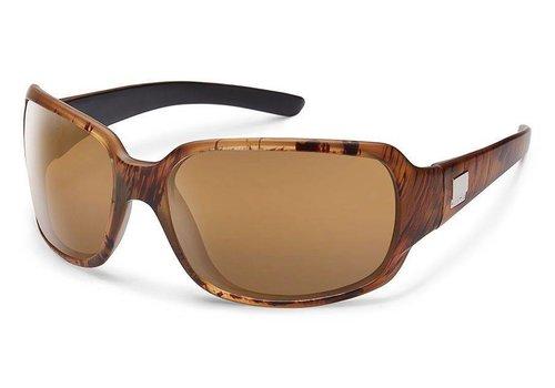 Suncloud Suncloud Cookie Sunglasses: Mt Tortoise Backpaint/Polarized Sienna Mirror Polycarbonate Lens