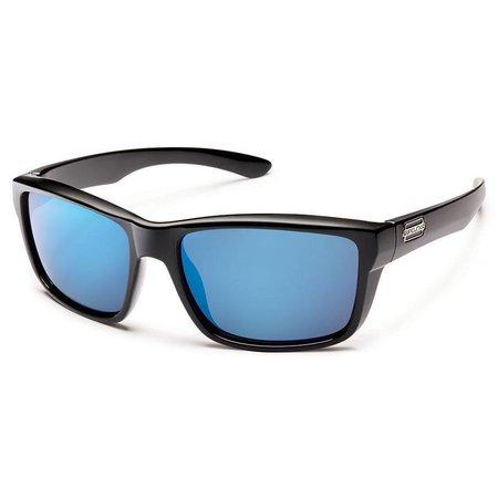 Mayor Sunglasses: Black/Polarized Blue Mirror Polycarbonate Lens