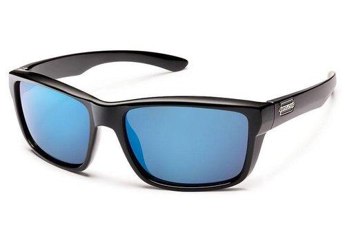 Suncloud Suncloud Mayor Sunglasses: Black/Polarized Blue Mirror Polycarbonate Lens