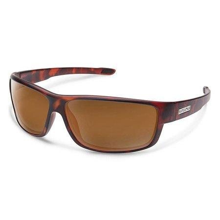 Voucher Sunglasses: Matte Tortoise/Polarized Brown Polycarbonate Lens