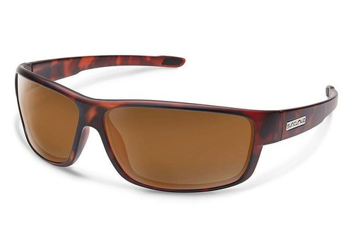 Suncloud Optics Suncloud Voucher Sunglasses: Matte Tortoise/Polarized Brown Polycarbonate Lens