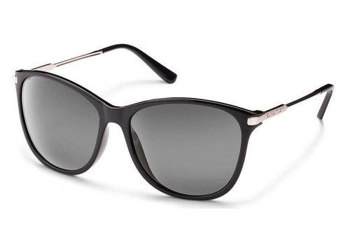 Suncloud Suncloud Nightcap Sunglasses: Black/Polarized Gray Polycarbonate Lens