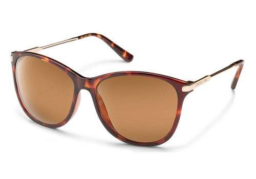 Suncloud Suncloud Nightcap Sunglasses: Tortoise/Polarized Brown Polycarbonate Lens