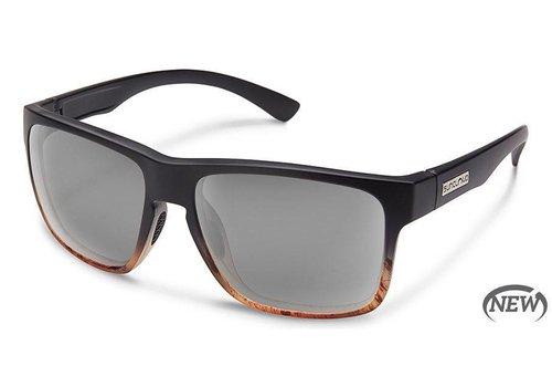 Suncloud Suncloud Rambler Sunglasses: Black Tortoise Fade/Polarized Gray Polycarbonate Lens