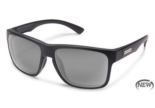 Suncloud Suncloud Rambler Sunglasses: Matte Black/Polarized Gray Polycarbonate Lens