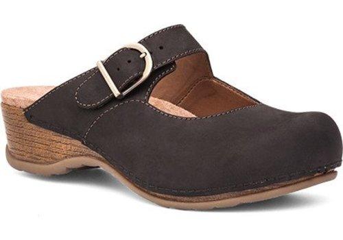 Dansko Martina Leather Closed-Toe Clog Black Oiled