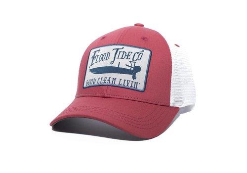 Flood Tide Co. Flood Tide Skiff Trucker Hat Red