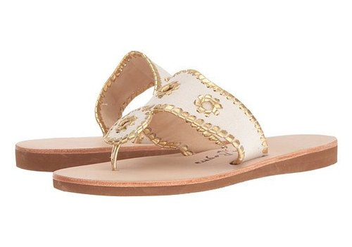 Jack Rogers Jack Rogers Boating Jacks Ecru / Gold