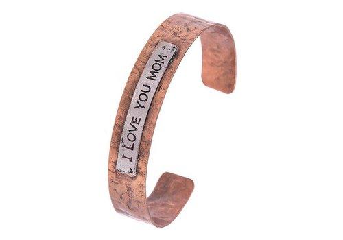 Andrea Bijoux I LOVE YOU MOM Cuff Bracelet Copper