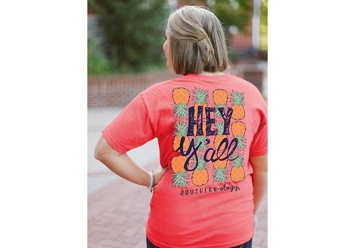 Southernology Southernology® Coral Hey Y'all Pineapple T Shirt