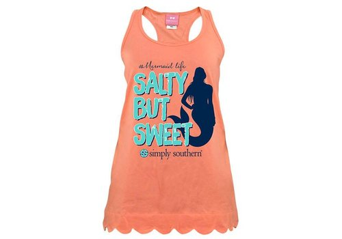 Simply Southern Simply Southern Salty But Sweet Tank Poppy