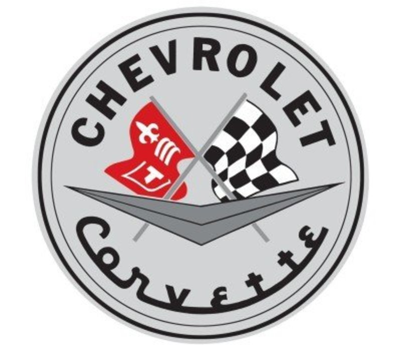Chevrolet Corvette Embossed Tin Sign