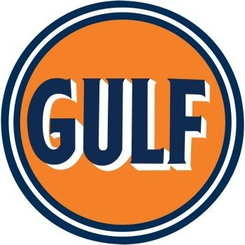 Gulf Embossed Tin Sign