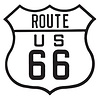 Ande Rooney Route 66 Embossed Tin Sign