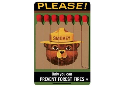 Ande Rooney Only You Can't Prevent Forest Fires Sign