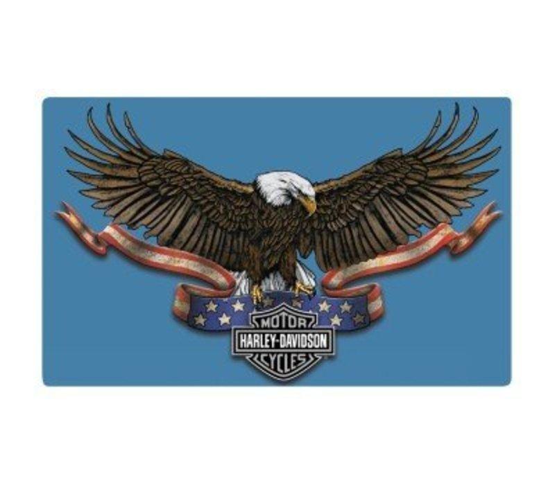 Harley Davidson Eagle Banner Embossed Sign